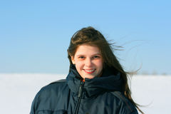 Girl in winter Royalty Free Stock Photo