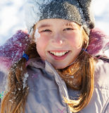 Girl in the winter Stock Photography