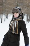 Girl in winter Stock Photo