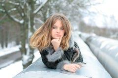 Girl in winter Stock Photo