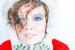 Girl in winter accessories Royalty Free Stock Photo