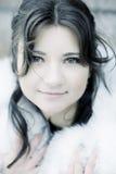 Girl in winter city Stock Photos