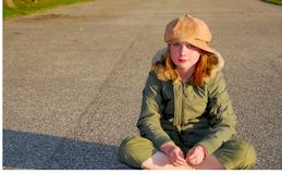 Girl winter clothes Royalty Free Stock Image