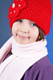 Girl in winter clothes Stock Photography