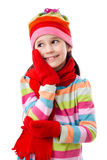 Girl in winter clothes Royalty Free Stock Images