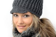 Girl with winter clothes Royalty Free Stock Photo