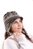 Girl with winter clothes Royalty Free Stock Images