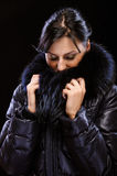 Girl in winter clothes Royalty Free Stock Photo