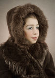 Girl in winter clothes Royalty Free Stock Photography