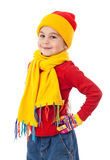 Girl in winter clothes Royalty Free Stock Photos