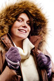 Girl in winter clothing Stock Image