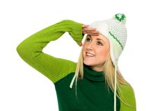 Girl in Winter Clothing Royalty Free Stock Photography