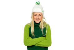 Girl in Winter Clothing Royalty Free Stock Photos