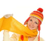 Girl in winter clothing Royalty Free Stock Photo