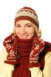 Girl in winter clothing Stock Photos