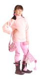 Girl in winter clothing Royalty Free Stock Images