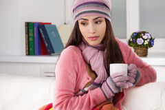 Girl in winter clothing. Royalty Free Stock Photo