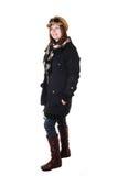 Girl in winter coat. Royalty Free Stock Photos