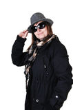 Girl in winter coat. Royalty Free Stock Photo