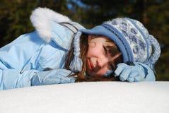 Girl in Winter Coat Royalty Free Stock Image
