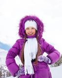 Girl in winter coat Royalty Free Stock Image