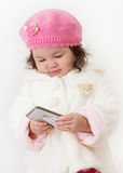 Girl in Winter Fashion Stock Photography