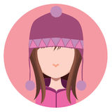Girl with winter hat Royalty Free Stock Photo