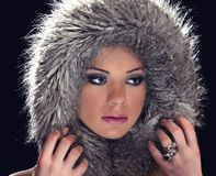 Girl with winter hat Royalty Free Stock Photos