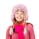 Girl in winter hat and scarf Royalty Free Stock Photo