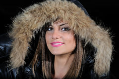 Girl with winter jacket Royalty Free Stock Photo