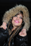 Girl with winter jacket Stock Photography