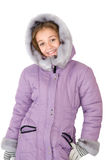 Girl in a winter jacket Royalty Free Stock Photo