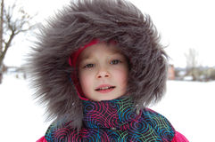 Girl in winter outfit Stock Photos