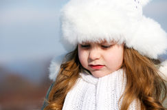 Girl in winter park Royalty Free Stock Image