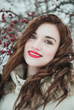 Girl  in winter Royalty Free Stock Images