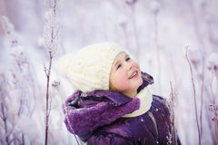 Girl in winter Stock Photography