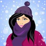 Girl of Winter Stock Image