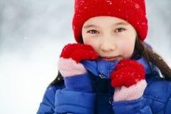 Girl in the winter. teen outdoors Stock Photos