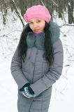Girl in wintertime Stock Photography