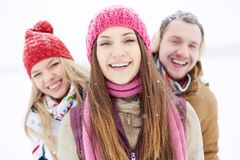Girl in winterwear Royalty Free Stock Photos