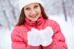 Girl in winterwear Royalty Free Stock Photos