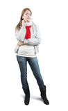 Girl  in wintry clothes Royalty Free Stock Photos