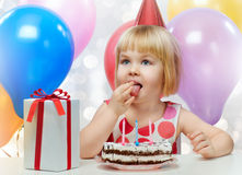 Girl wit balloons Royalty Free Stock Photography