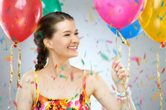 Girl wit balloons Royalty Free Stock Photos