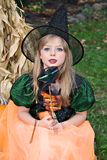 Girl Witch Stock Photography