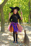 Girl witch Royalty Free Stock Image