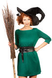 Girl witch Stock Images