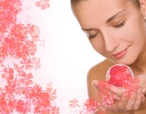 Girl With A Bath Ball Royalty Free Stock Photo