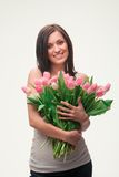 Girl With A Bouquet Royalty Free Stock Photo