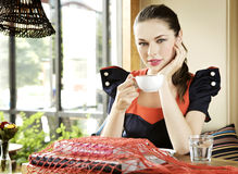 Free Girl With A Cup Of Coffee In Hand Stock Photo - 20710990